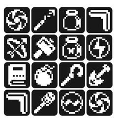 Zelda weapon atari version icon set vector