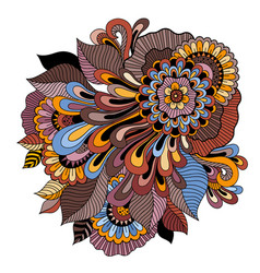 Zentangle floral ornament tattoo flower template vector