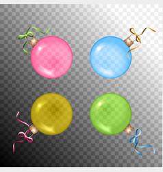 christmas ball set vector image