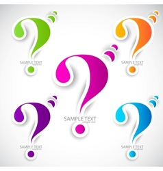 Colorful paper question mark for speech vector