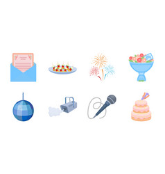 event organisation icons in set collection for vector image
