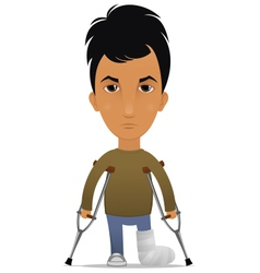 guy with a leg fracture vector image vector image