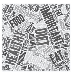 How To Find Out If Your Diet Is Healthy Enough vector image