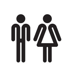 man and woman outline vector image vector image
