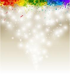 paint splashes vector image