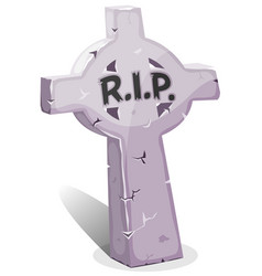 cartoon christian tombstone with rip vector image vector image