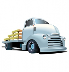 hot rod truck vector image vector image