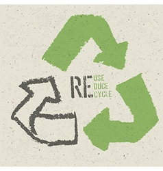 reuse grunge poster vector image vector image