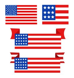 usa flag in style vector image vector image