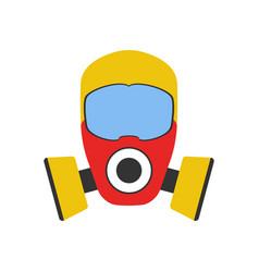 gas mask icon fire departament equipment icon vector image