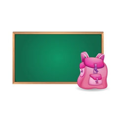 green board and school bag vector image