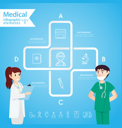 medical health and healthcare icons and vector image vector image