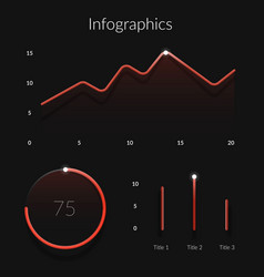 red gradient infographics elements template with vector image vector image