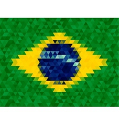 Triangle geometric background Brazil flag concept vector image