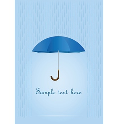 umbrella card vector image vector image