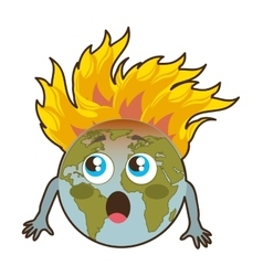 world planet earth icon vector image