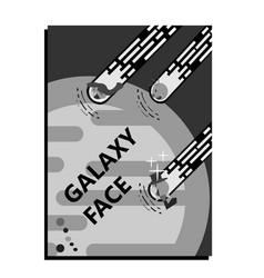 corporatedesign facegalaxy retro vector image
