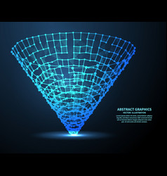 digital funnel vector image