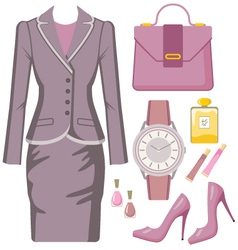 Fashion set from a female sui vector image vector image