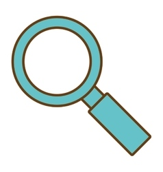 Magnifying glass isolated icon design vector image