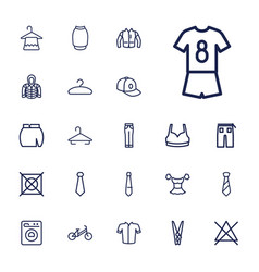 22 clothes icons vector