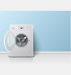 3d realistic modern white steel opened vector