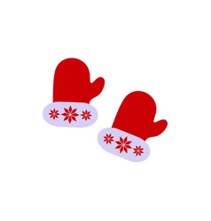 a christmas gloves with ornament of icons vector image