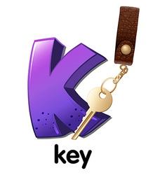 A letter K for key vector