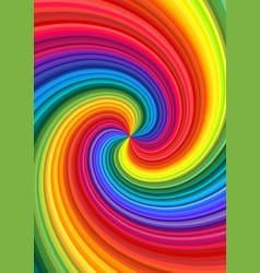abstract rainbow swirl vector image