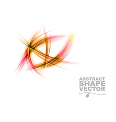 abstract shapes on white only red vector image