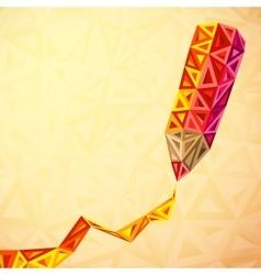 Abstract triangles pencil bacground vector