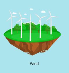 Alternative energy power wind electricity turbine vector