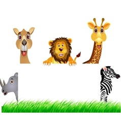 animal and white banner vector image