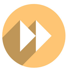 Arrow sign forward or backward icon vector