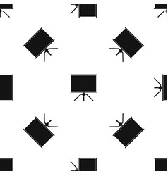 blank projection screen pattern seamless black vector image