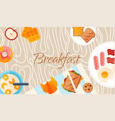 Breakfast brunch banner concept vector