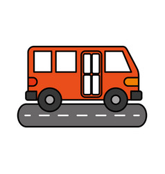 bus street service public urban vehicle vector image
