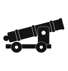 Cannon icon simple style vector
