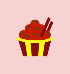 Cinnamon cupcake vector