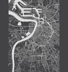 City map antwerp monochrome detailed plan vector