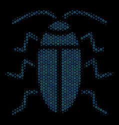 Cucaracha collage icon of halftone bubbles vector