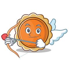 cupid pumpkin pie character cartoon vector image