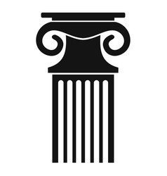 Decorative column icon simple style vector