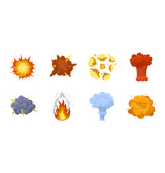 Different explosions icons in set collection for vector