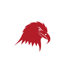 eagle head logo and symbols red icons vector image