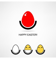 Easter icon vector
