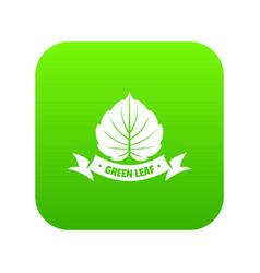 eco planet icon green vector image