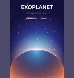 Exoplanet astronomical galaxy space background vector