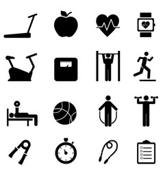 fitness diet and healthy life icons vector image