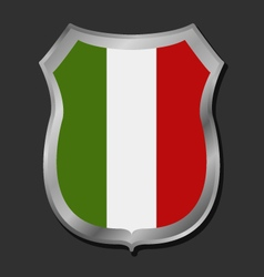 flag of Italy shield vector image